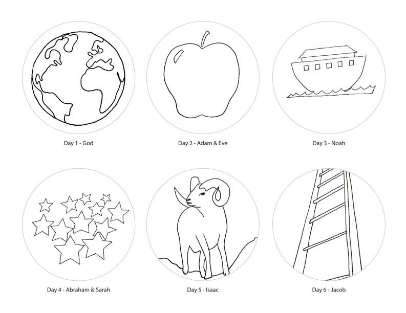 jesse tree symbols coloring pages - photo#10